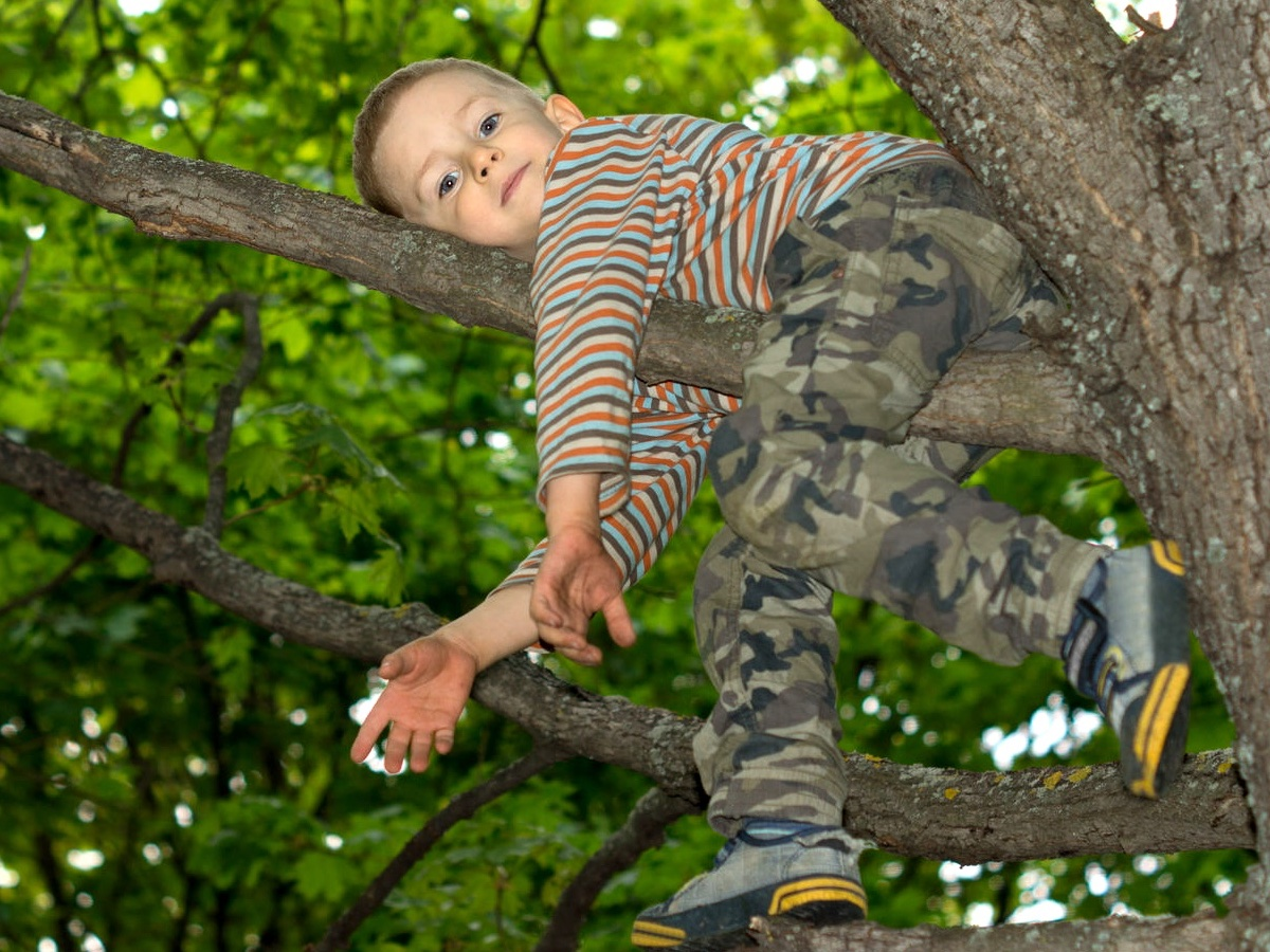 Camo is great for tree climbing