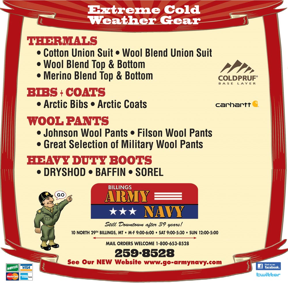 Extreme Cold Weather Gear (newspaper ad)