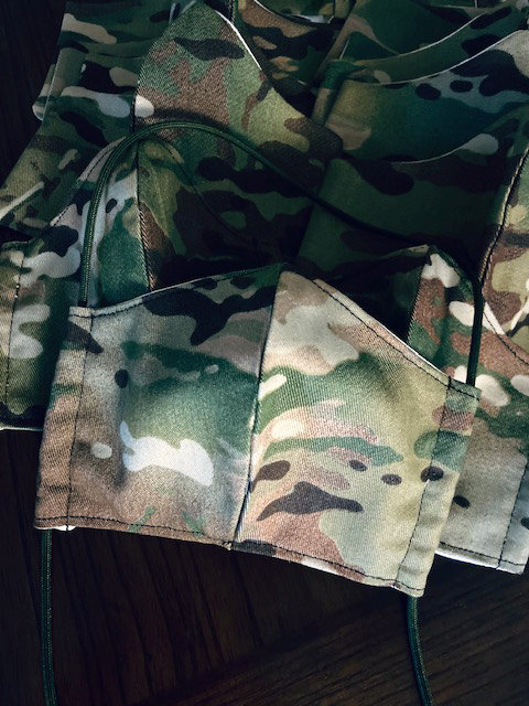 udith's uniform-matching camo face masks