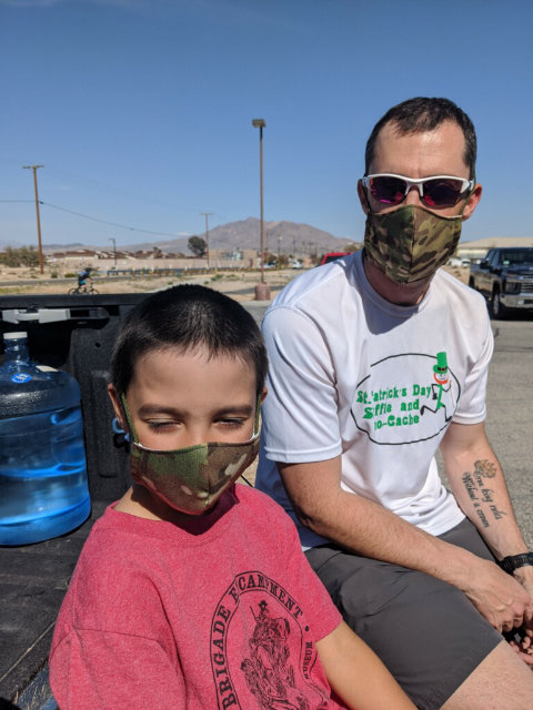 Face masks for off-duty and families too