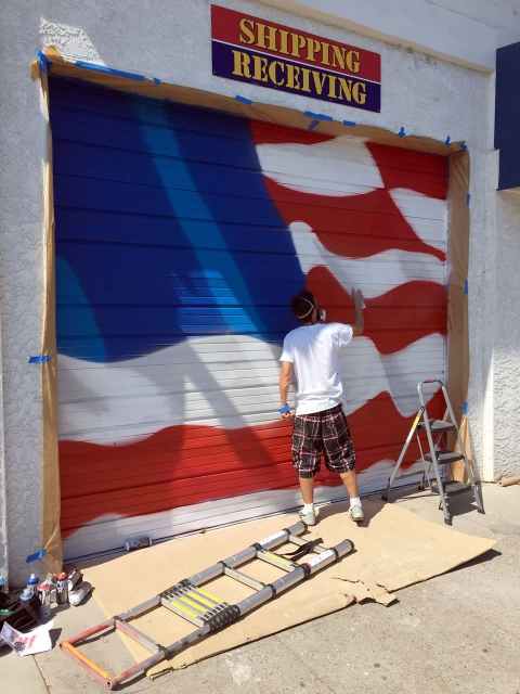 Grafiti flag in process
