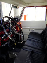 1964 Land Rover 109 Truck - inside